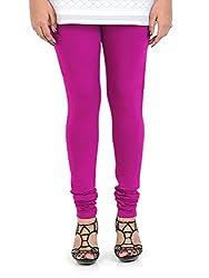 Vami Cotton Churidaar Leggings for Women in Magic Pink