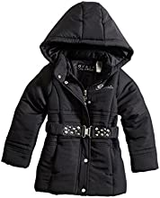 GUESS Kids Little Girl Parka with Removable Hood 2-6x