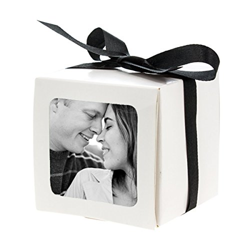 15 Photo Party Favor Boxes Wedding Table Custom Gift Picture Treat Decoration (Custom Treat Boxes compare prices)