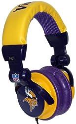 iHip NFH22MIV NFL Minnesota Vikings DJ Style Headphones Purple/Yellow