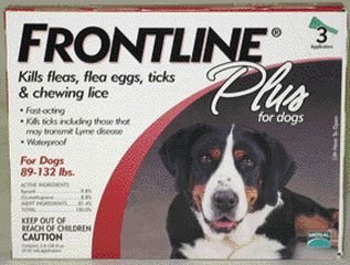 Frontline Plus For Dogs 89-132 Lb, 3 Pk