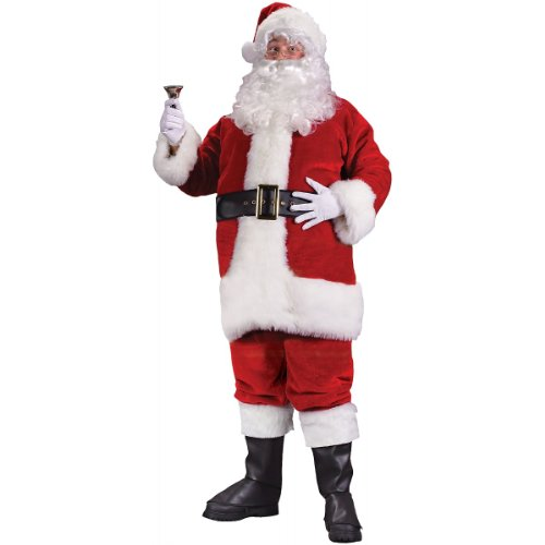Regency Plush Red Santa Suit Costume - XX-Large