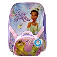 Kids' The Princess and the Frog Backpack with Detachable Lunch Kit - Purple