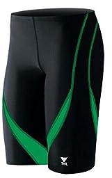 TYR Alliance Splice Jammer Swimsuit, Black/Green, Size 30