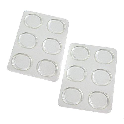 TININNA 6 pezzi chiara Silicone tacco scarpa Sticker Sticker piede cura Protector Pads,Ideale per tacchi alti e sandali