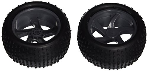Iron Track Atomik RC Rim and Tire Set - Truggy for Iron Track Centro 4WD RC Truggy Vehicle, 2-Piece
