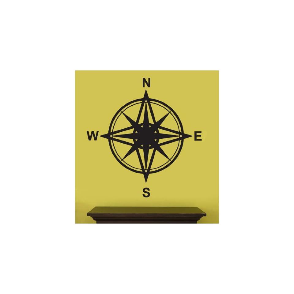 Vinyl Wall Art Decal Sticker Magnetic Compass Instrument Design #263