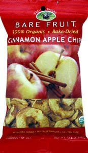 Bare Fruit Organic Dried Cinnamon Apple Chips Fat Free 2.6 Oz (Pack of 3)
