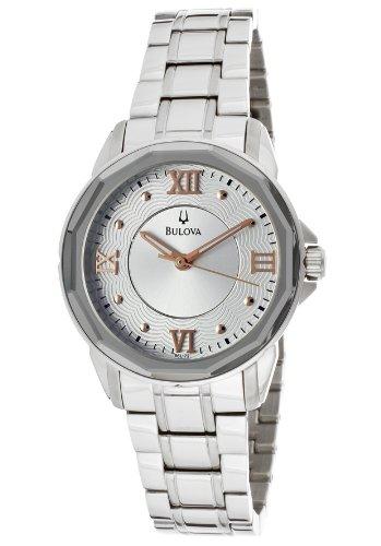 Bulova Women's 96L172 Silver Tone/Silver Stainless Steel Watch