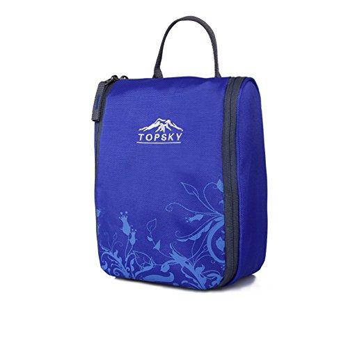 sac de lavage de Voyage extérieur / sac à cosmétiques fournitures essentielles / admission forfait de voyage-bleu