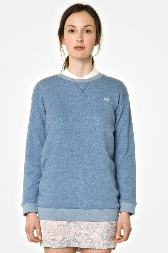 L!VE 3/4 Sleeve Heathered Crewneck Sweatshirt