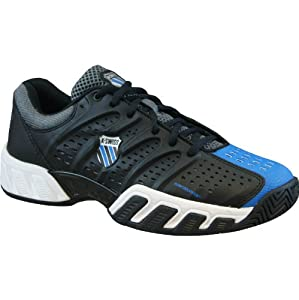 K-Swiss Men's Bigshot Light Tennis Shoe,Black/Brillant Blue/Charcoal, 11 M US