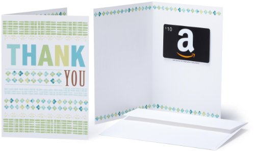 Amazon.com Gift Card with Greeting Card - $10 (Thank You)
