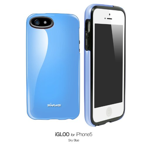 Iphone5 /5S Case, Apple Iphone 5 / 5S Premium Hard Case Good Grip Slim Fit Cellphone Cover (Sky Blue)
