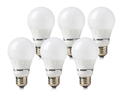 Energetic Lighting ELY09-EAS-VB-6 A19 - 60 Watt Equivalent 800 Lumen Non-Dimmable, 6-Pack