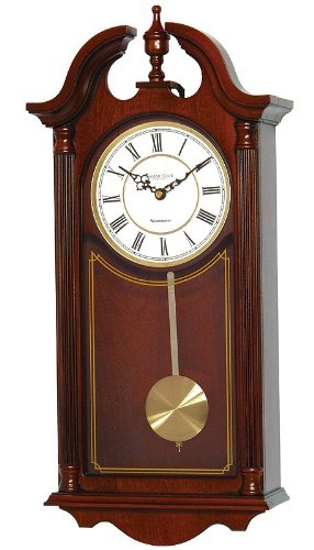 Mahogany Finish Pendulum Wall Clock 25119