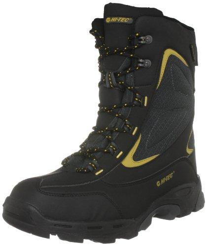 Hi-Tec Men's Avoriaz 200 Wp Black/Charcoal/Saffron Snow Boot O000959/021/01 12 UK
