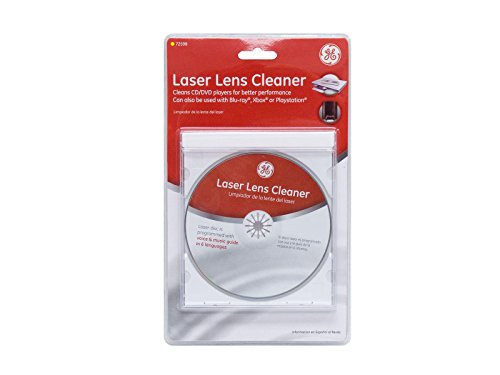 GE Laser Lens Cleaner, Blu-Ray Cleaner for CD, DVD, Blu-ray, Xbox One, Xbox 360 And Playstation Laser Disc is Programmed With Voice Music Guide In 6 Languages