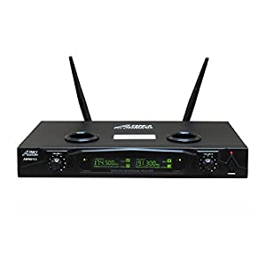 Audio 2000s AWM6113 Dual Channel Rechargeable VHF Wireless Microphone System by Audio 2000s
