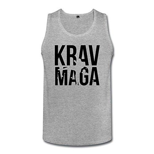 Krav Maga Funny Men Cotton Tank Top Heather Gray front-755329