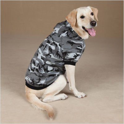 Casual+Canine+Green+Camo+Fleece+Lined+Hunting+Hoodie+Hooded+Dog+Sweatshirt+Medium