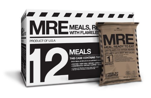 Meal Kit Supply Premium Fresh MREs Meal with Heaters (12-Pack)