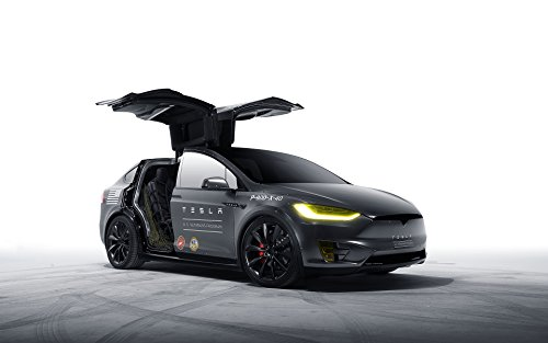 Model X Tesla Motors Silk Wall Art Poster Print - 24x36 inch (60x90cm) (Motor Poster compare prices)