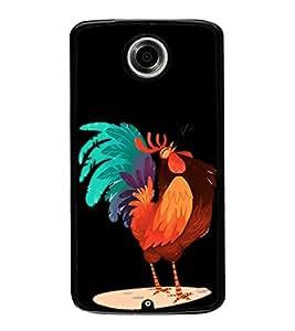 Funny Cock Cartoon 2D Hard Polycarbonate Designer Back Case Cover for Motorola Nexus 6 :: Motorola Nexus X :: Motorola Moto X Pro :: Motorola Google Nexus 6