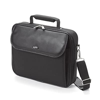 Dicota N21248P-V1 Classic Edition 12.1 Inch Notebook Case with Padded Notebook Compartment and Integrated Workstation - Black by Dicota