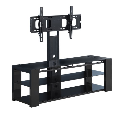 Cheap Walker Edison 60-Inch Cayenne TV Stand with Removable Mount, Black (V60EC1BL)