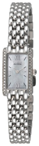 Citizen Women's Eco-Drive Swarovski Crystal Accented Stainless Steel Watch #EG2660-51D