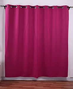 Deconovo Fuschia Wide Width Grommet Thermal Insulated Blackout Curtain 100 Inch