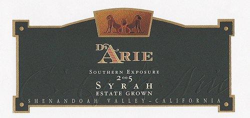 2005 C.G. Di Arie Cellar Select Wines Syrah, Southern Exposure 750Ml