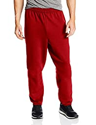 Hanes Men\'s EcoSmart Fleece Sweatpant, Deep Red, X-Large (Pack of 2)
