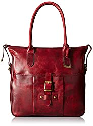 FRYE Parker Tote Shoulder Bag, Burgundy, One Size