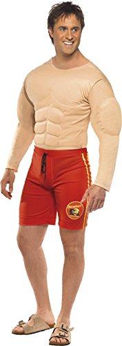 Smiffys Men's Red Baywatch Lifeguard Costume - Large (Cheap Mario And Luigi Costumes)