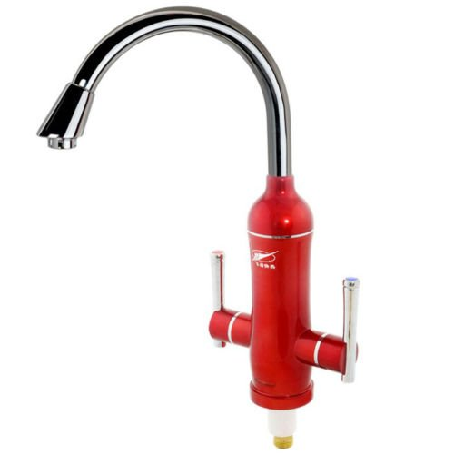 Red New Sink Mounted 1S Hot Instant Electric Water Heater Cold&Hot Faucet Mixer Tap