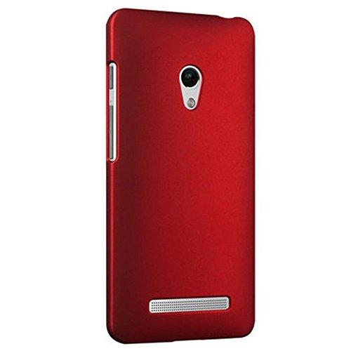 ASUS ZenFone 5 スリムフィットケース AIR SLIM DESIGN [ A500KL 16GB 32GB SIMフリー LTE / 楽天モバイル版 対応 ] 薄型軽量デザイン19g ワンタッチ装着 Slim Fit Cover Case PCハード素材MY WAY 専用パッケージ:全5色 (ASUS ZenFone 5, Red (赤))