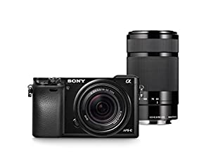 Sony Alpha a6000 Mirrorless Digital Camera with 18-55mm and 55-210mm Lenses
