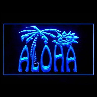 Aloha Palm Tree Advertising Led Light Sign