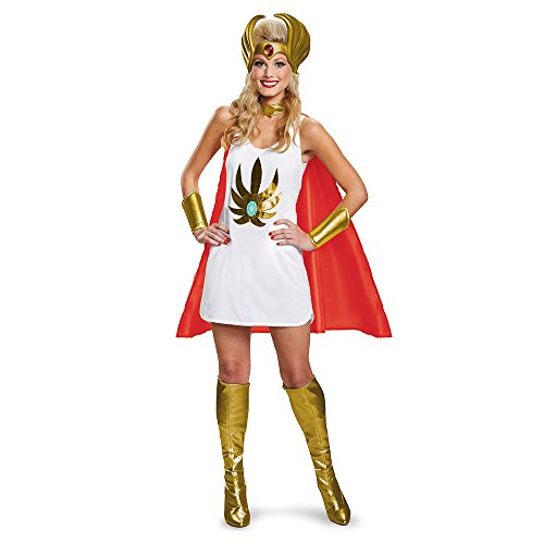 Become Prince Adam's (He-Man) twin sister with this Masters of the Universe She-Ra Costume Kit One Size