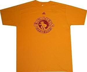 Cleveland Cavaliers Throwback Hardwood Classics Gold Adidas T Shirt by Reebok