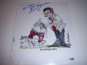 Larry Munson Georgia Bulldogs Jsa coa Signed 8x10 Photo - Autographed College Photos by Sports+Memorabilia