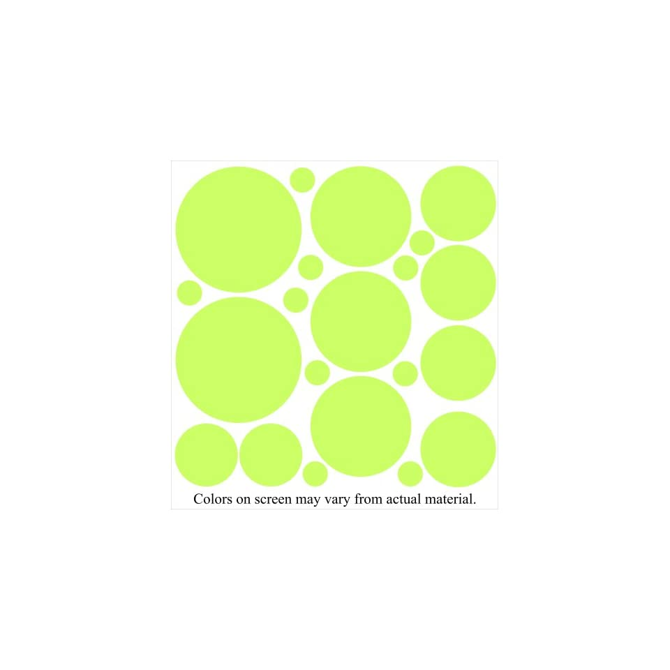 34 Lime Green Polka Dot Wall Stickers Decals Lettering Words