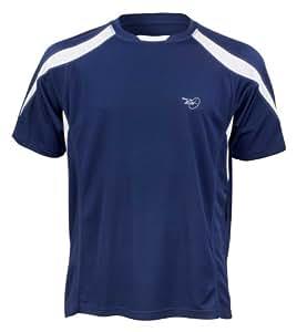 Velocity Jogging-T-Shirt mit kurzen Ärmeln, Oberteil für Herren M Navy/Weiß