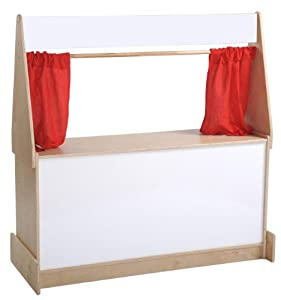 "ECR4Kids 49"" x 20"" x 49"" Puppet Theater, Dry Erase Board from ECR4Kids"
