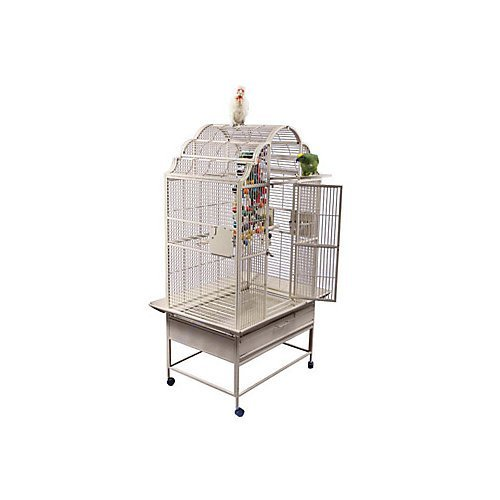 Medium Victorian Style Bird Cage Platinum