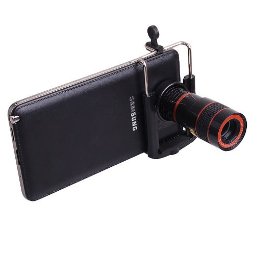 8X Zoom Optical Telescope Camera Lens With Tripod For Iphone 4 - Black