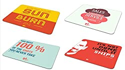If you want to shine + Sales go up & down + It's not done + You miss 100% - Mousepad ( Set of 4)