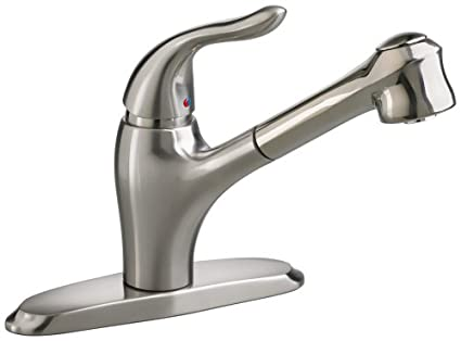 American Standard 4114.100.075 Lakeland Single-Control Kitchen Faucet with Pull Out Spray Spout, Stainless Steel